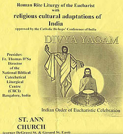 Flyer advertising a novel Indian Order of Mass in Toronto, Canada